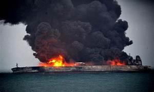 Burning Oil Tanker Sinks Off China - News