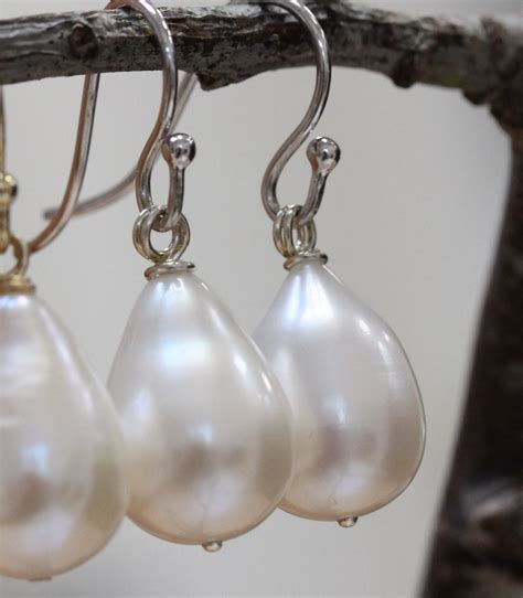 large pearl drop earrings   perfect gift