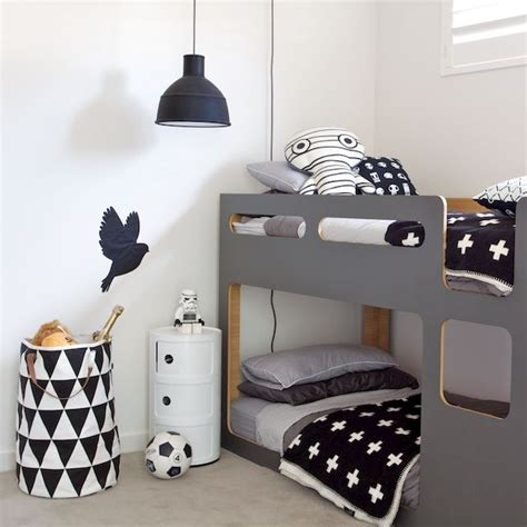 chambre noir et blanc design 15 chambres d 39 enfants en mode black and white billie blanket