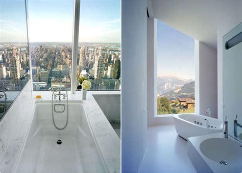 Роскошные ванные комнаты с прекрасным панорамным видом