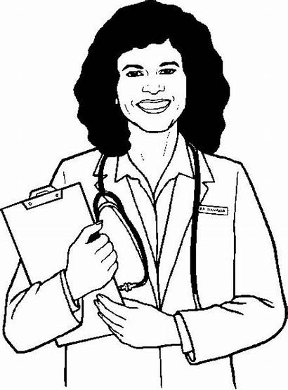 Doctor Coloring Nurse Pages Colouring Jobs Need