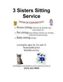 what to put on babysitting flyers
