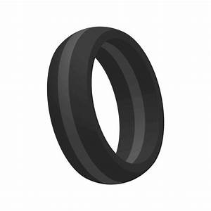 Mens thin gray line silicone wedding engagement ring band for Top silicone wedding rings