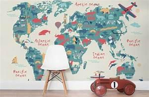 Tapete Weltkarte Kinderzimmer : wandmalerei kinderzimmer 21 ideen wie sie eine ganz spezielle raumatmosph re schaffen ~ Sanjose-hotels-ca.com Haus und Dekorationen