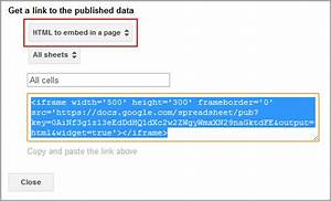 Create Tables From Google Docs And Embed In Wordpress