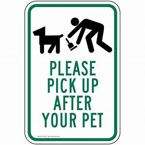 please pick up after your pet sign pke 16720 pets pet waste With pet waste pick up letter