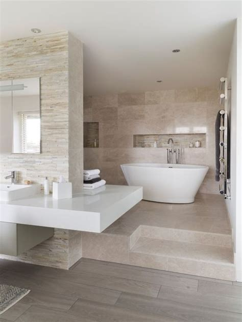 Grey And Beige Tones Bathroom Ideas Houzz