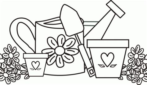 Free Coloring Pages Garden Tools Murderthestout