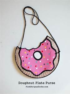 Summer Paper Plate Crafts Pink Stripey Socks