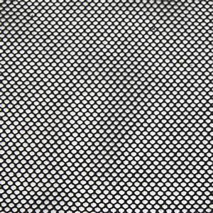 Black Poly cotton Fishnet nonstretch mesh