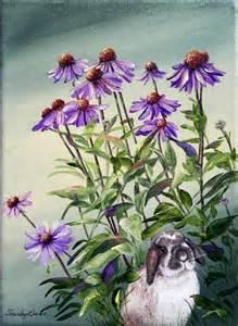 Purple Acrylic Flower Painting