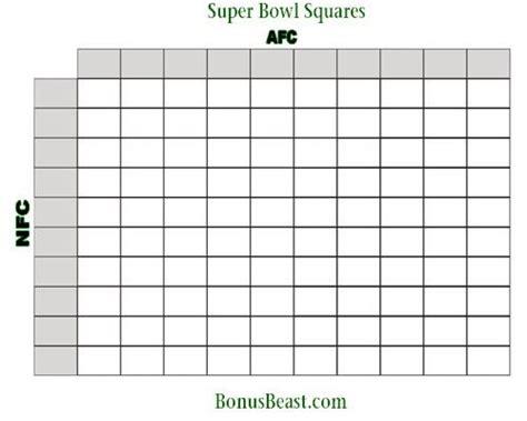 bowl box template printable superbowl squares carisoprodolpharm