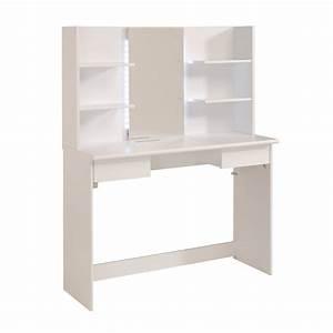 Meuble Coiffeuse But : coiffeuse avec tiroirs et miroir blanc maison et styles ~ Teatrodelosmanantiales.com Idées de Décoration