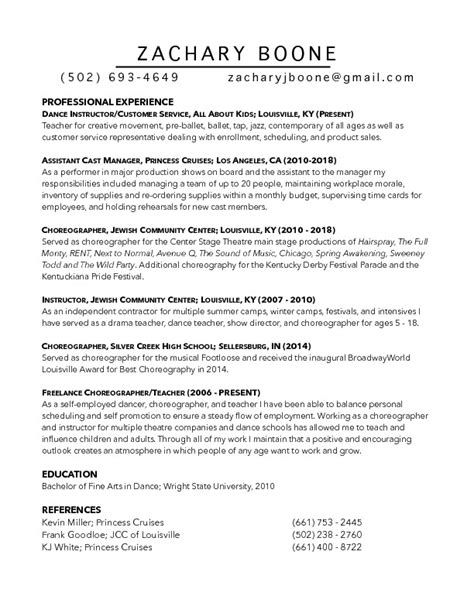 Z Resume by Z Boone Resume 2019 Chion Gymnastics