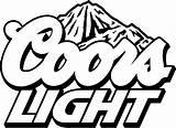 Coors Beer Cut Bud Svg Silhouette Clip Cricut Lets Something Template Cake Cooler Vinyl Coloring Studio Lite Stencil Logos Bottle sketch template