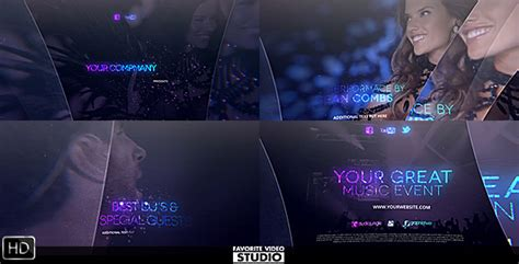 after effects template eventes the great music event by fvs videohive