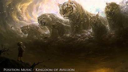 Fantasy Cat Tiger Digital Artwork Tigers Clouds
