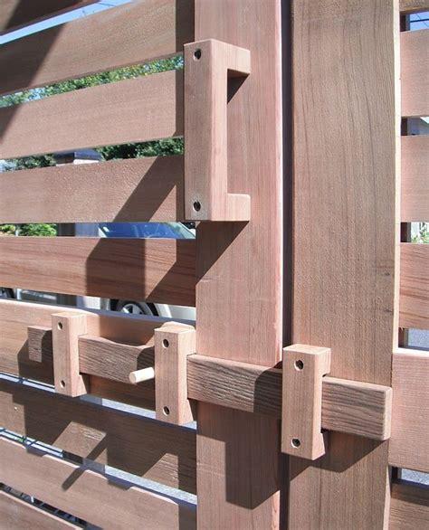 square   world   gate latch wood doors