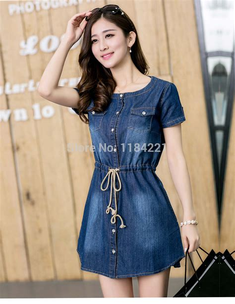 vestido denim dress 2015 new summer korean style casual
