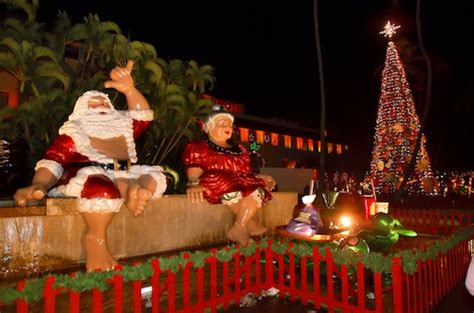 hawaii christmas songs  deck  halls  season