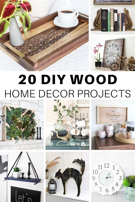 cute diy wood home decor projects  house  wood