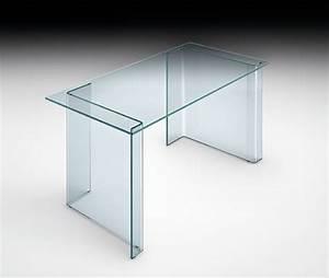 Console Verre Fly : console de bureau en verre ~ Teatrodelosmanantiales.com Idées de Décoration