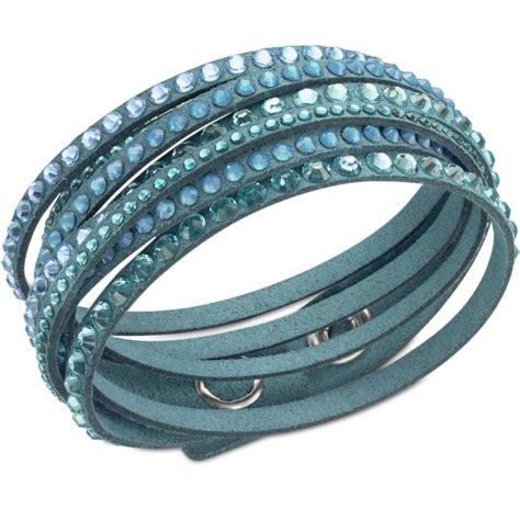 bracelet swarovski bleu bracelet swarovski 5043496 bracelet slake bleu femme sur