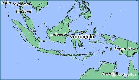gorontalo indonesia gorontalo gorontalo map