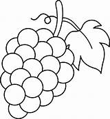 Grapes Coloring Pages sketch template