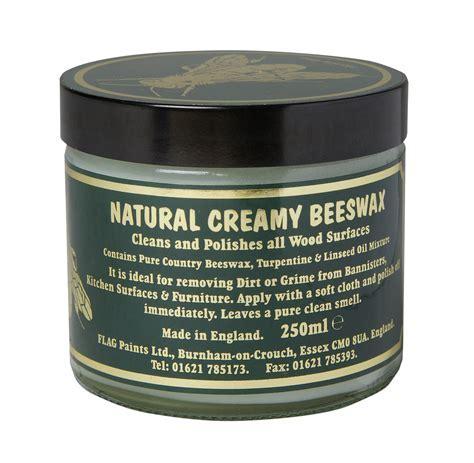 Flag Natural Creamy Beeswax Clear   250ml   Waxes & Oils