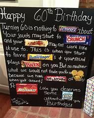 60th Birthday Candy Bar Card Ideas