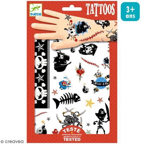 tatouages temporaires pirates  planche tattoo