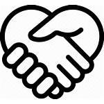 Friendship Handshake Trust Icon Heart Friend Service