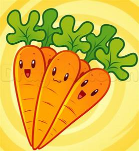 How to Draw Carrots, Step by Step, Food, Pop Culture, FREE ...