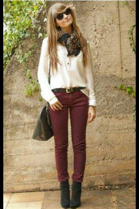 21 fantastic Maroon Pants Outfits Women u2013 playzoa.com