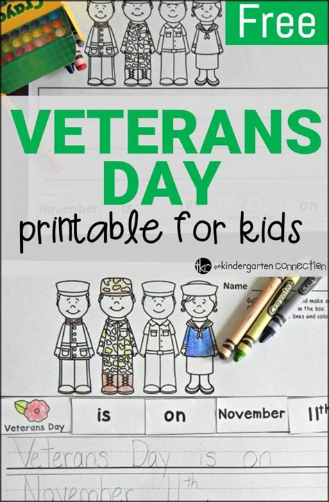free veterans day activity the kindergarten connection