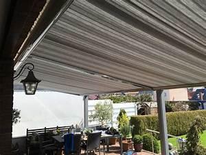schall outdoor markise With markise balkon mit tapeten grau silber gestreift