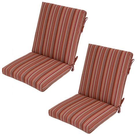 dragonfruit stripe outdoor dining chair cushion 2 pack