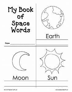 My Book of Space Words Printable Book | A to Z Teacher ...