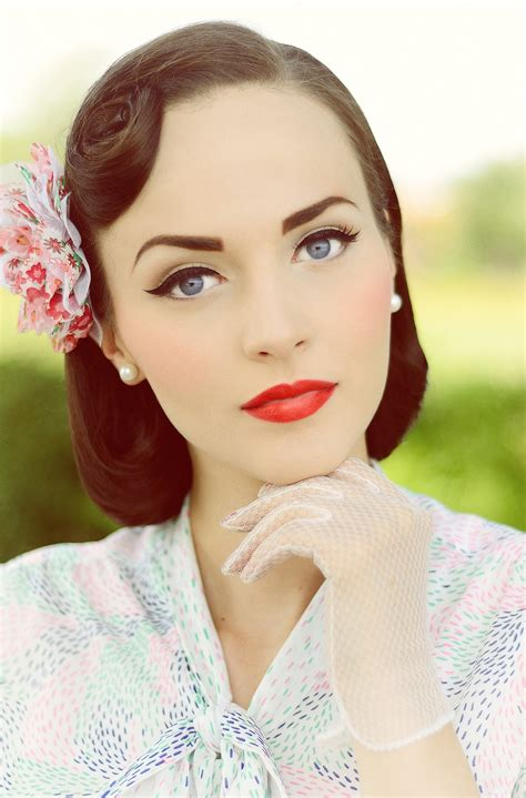 1950s Hairstyles And Makeup by Idda Munster 1950s Pageboy Hairstyle Summer Wind
