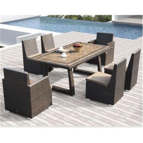 costco niko 7 patio dining set by sirio outdoor