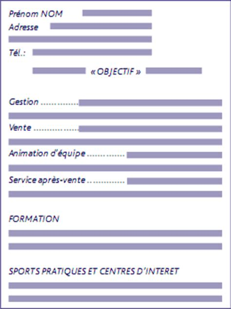 Type De Cv by Type De Cv Modele De Cv Word Eval Externe
