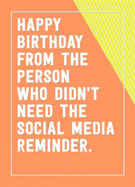 dont   social media reminder funny birthday card