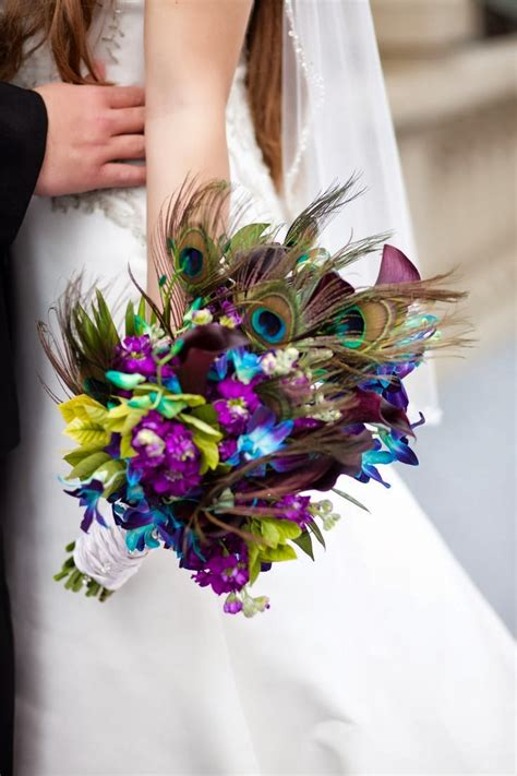 Peacock Wedding Bouquets Wedding Stuff Ideas