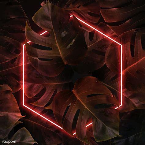 Download premium illustration of Red neon lights frame in ...