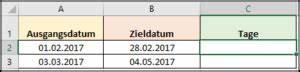 Excel Anzahl Tage Berechnen : wie kann ich in excel die tage berechnen office ~ Themetempest.com Abrechnung