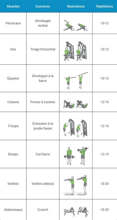 programme musculation homme maison programme musculation d 233 butant espace musculation