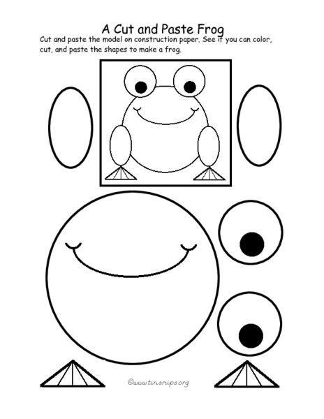 a cut and paste frog pre k 1st grade worksheet lesson 608 | dda906095967be858f130017992ff30c st grade worksheets lesson planet