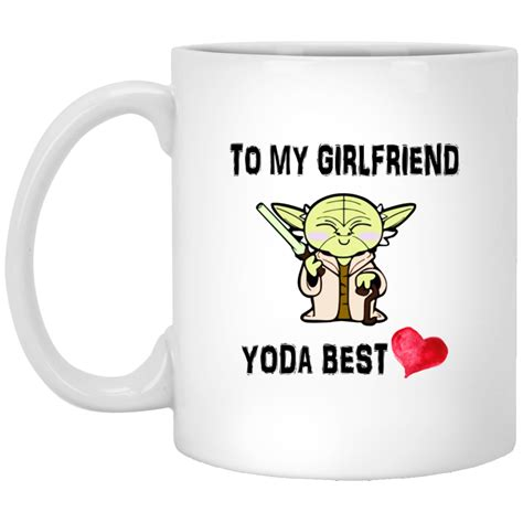 Serving coffee for the family? To My Girlfriend Yoda Best Mugs   Allbluetees.com