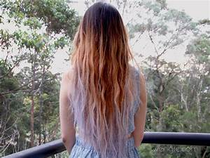 Using hair chalk to create lilac ombre hair – The ...